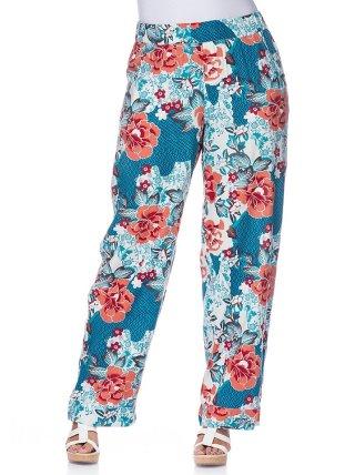 Pantalones Palazzo Mujer Con Estampado Floral Sheego Venca 067267