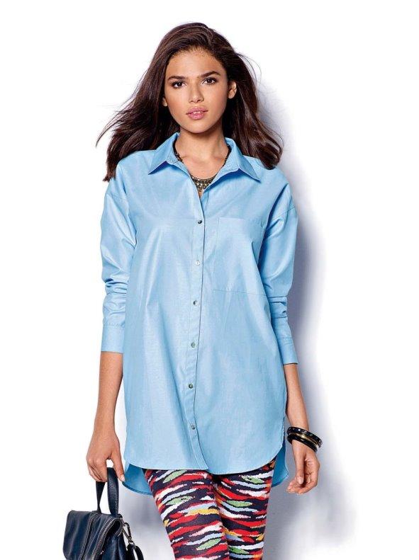 Camisa mujer manga larga asimétrica VENCA