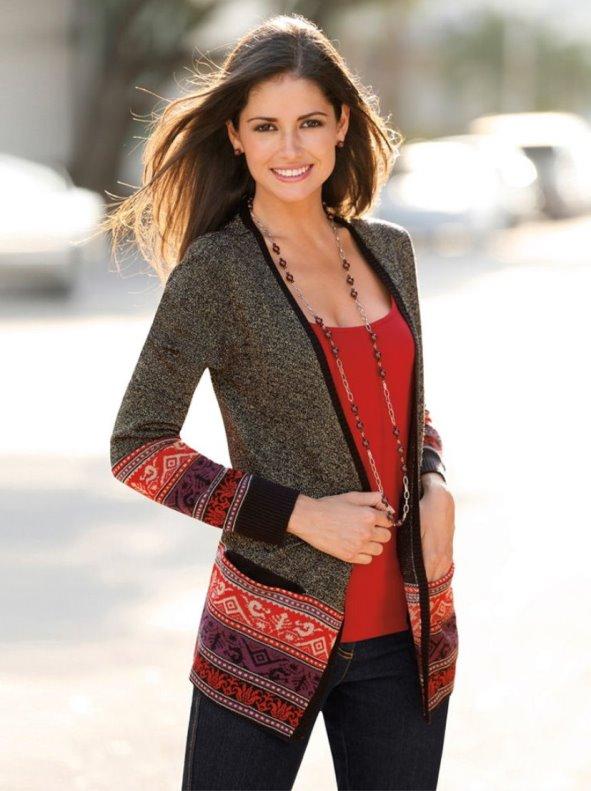 Chaqueta tricotada mujer - precio en tiendas de 10€ a 700€ - LaTOP.es 10074edb43e7