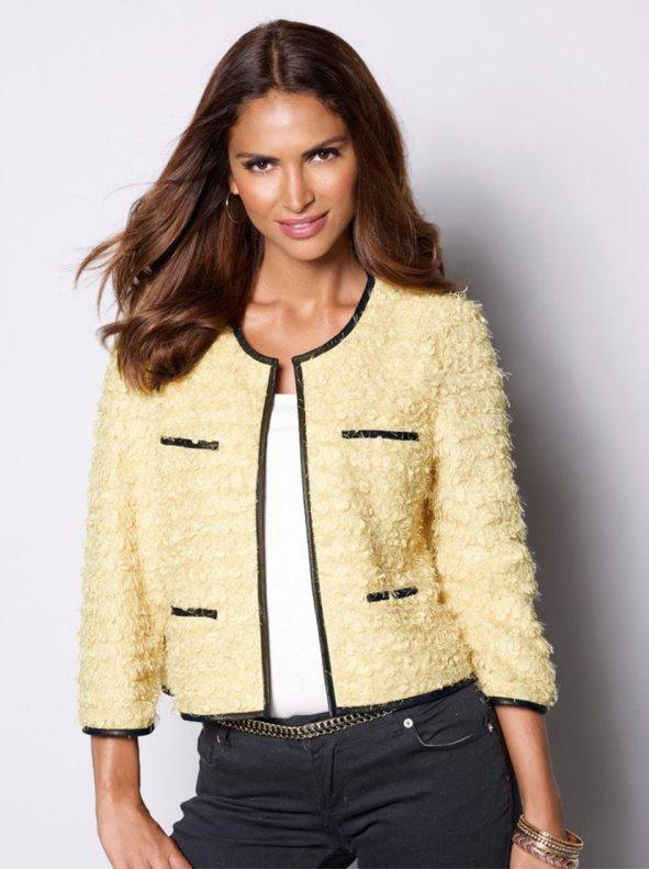 28bd9f228ad34 Chaqueta corta para mujer de tricot - Venca - 105335