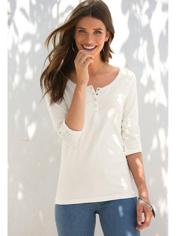 Women's T-shirt adjustable sleeve 3/4