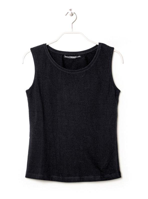 Camiseta de mujer sin mangas en algodón elástico VENCA