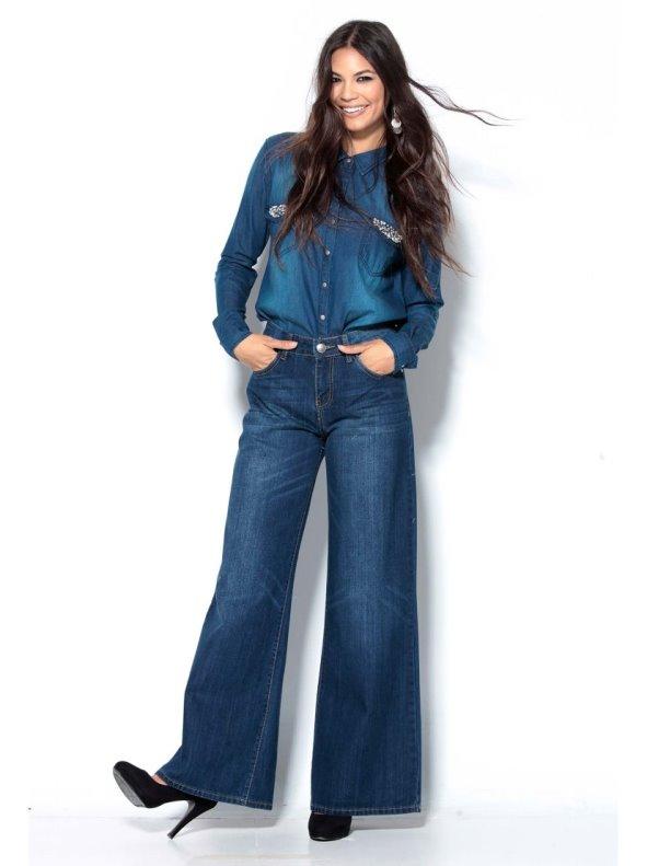 Long trousers women elephant leg width cowboy TREND CAPSULE BY VENCA