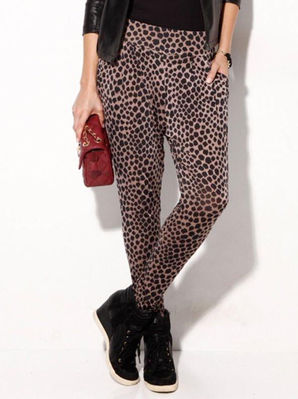 Pantalón largo mujer animal print