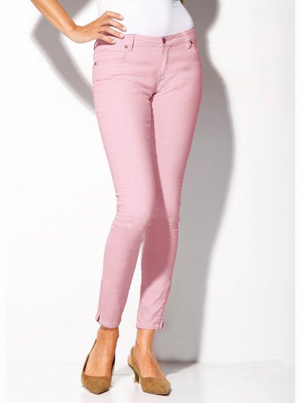 Pantalón largo mujer con cremalleras elástico VENCA