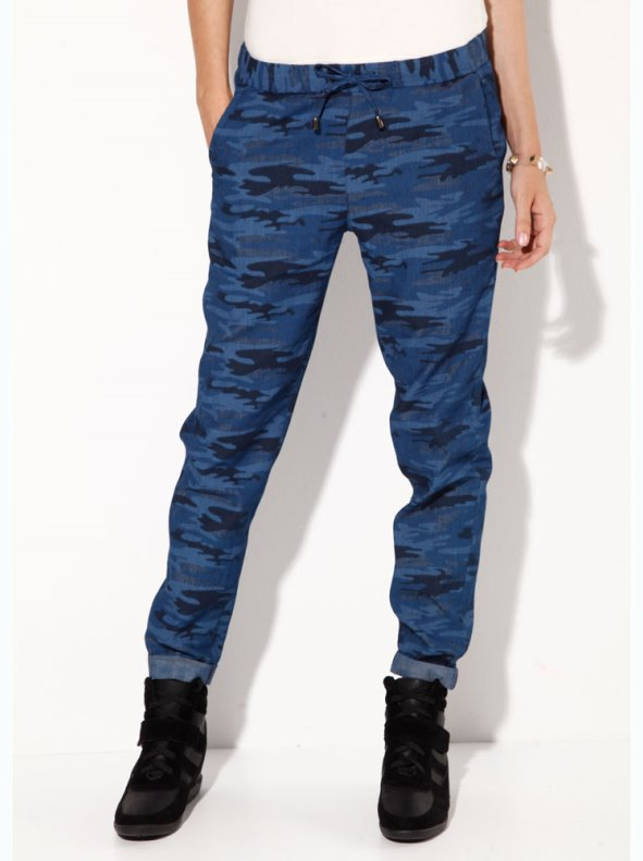 Women stamped camouflage pants VENCA