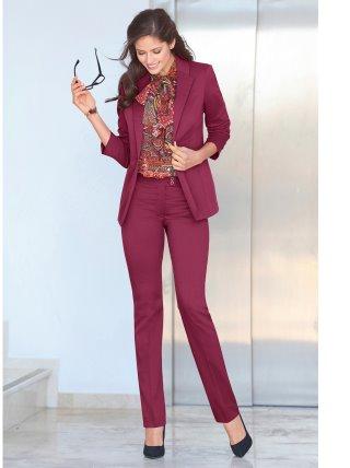 Pantalón largo de vestir mujer tiro alto elástico VENCA