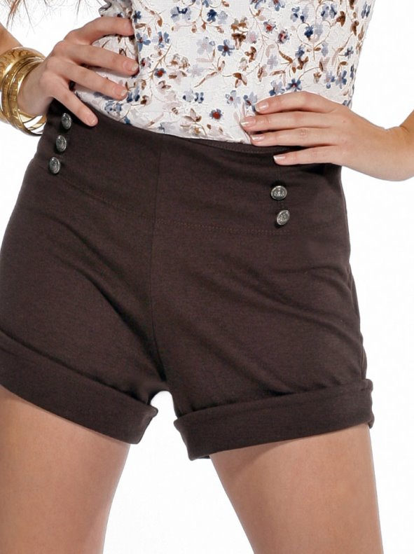 d10f37fa2 Pantalón short mujer de punto con botones - Venca - 116080