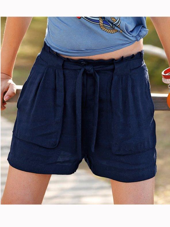 Pantalón corto bermuda mujer con bolsillos VENCA