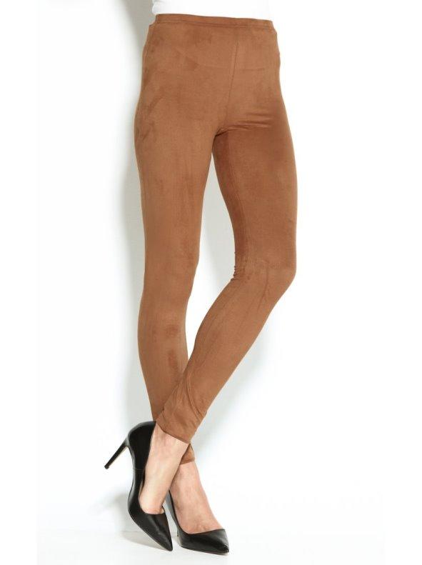 Pantalón legging pitillo de mujer en antelina elástica
