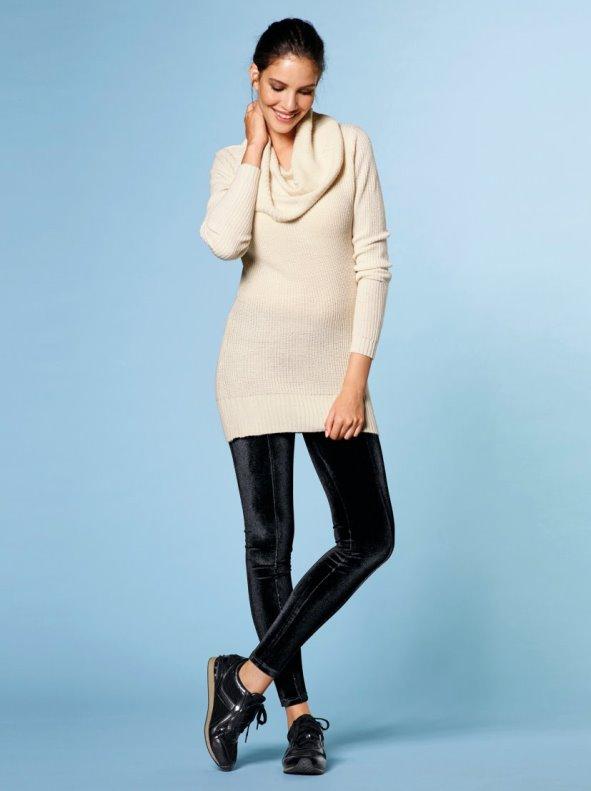 Long trousers women tregging velvet pad