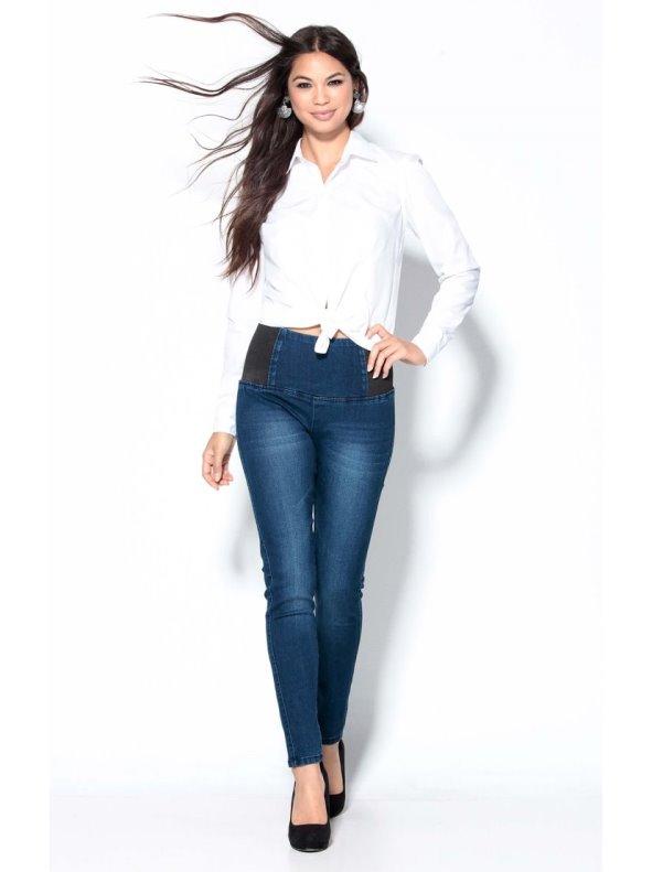 Pantalón tregging vaquero mujer con gomas ajuste