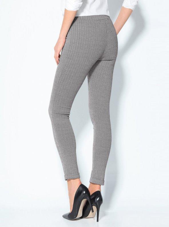 Pantalón tregging diseño de espiga en punto elástico