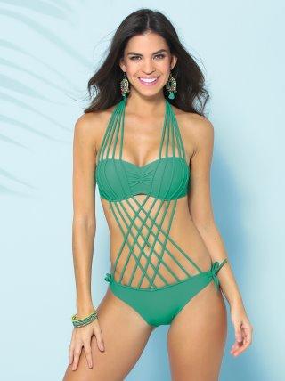 Ocurrencia Estándar Visible  Bañador trikini de baño mujer push up - Venca - 124010