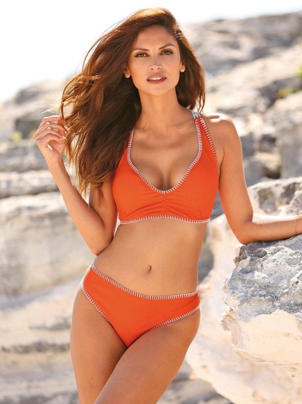 Bikini 2 piezas mujer con relleno extraíble y espalda en crochet