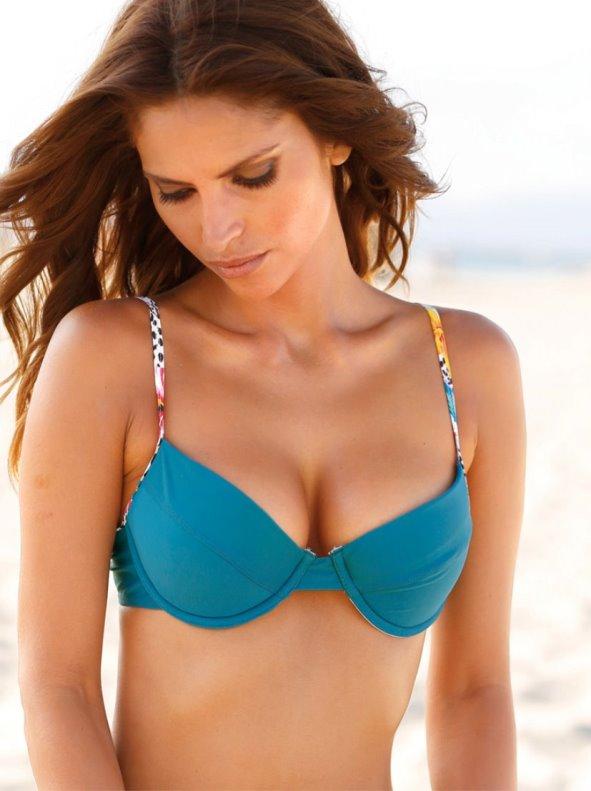 Sujetador de bikini mujer con aros y relleno