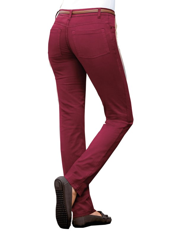 Pantalon Largo De Tiro Alto Mujer En Algodon Elastico Venca Venca 137009