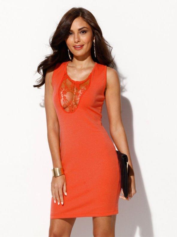 Vestido mujer sexy naranja