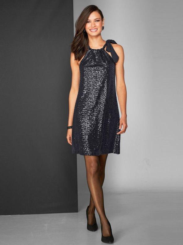 b39ac952c Vestido corto de fiesta sin mangas con lentejuelas - Venca - 144769