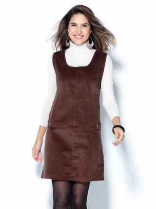 Vestido pichi sin mangas en micropana elástica