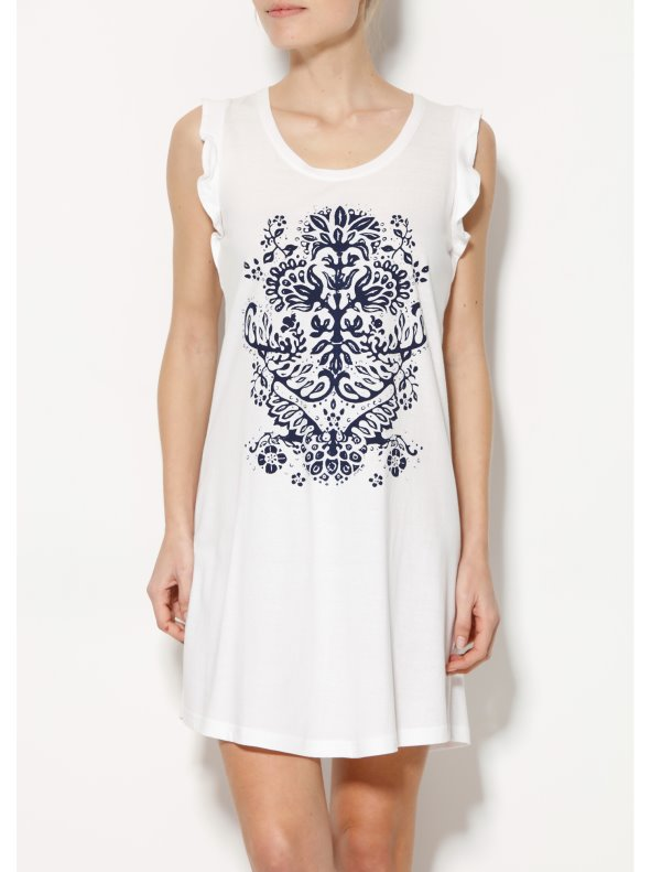 Women's short sleeveless nightgown