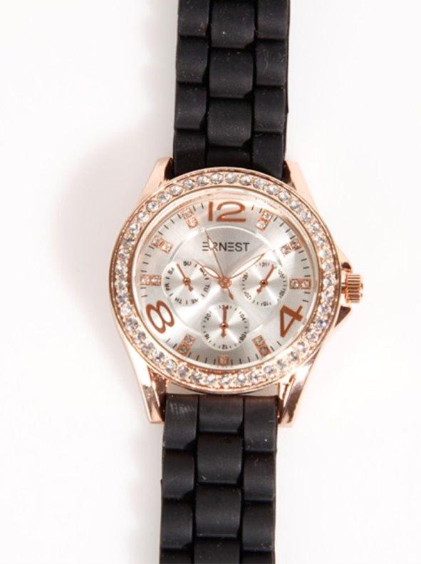 Reloj de pulsera mujer correa caucho con strass VENCA