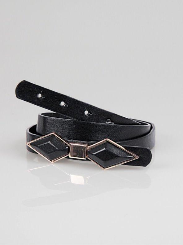 Cinturón mujer símil piel con lazo