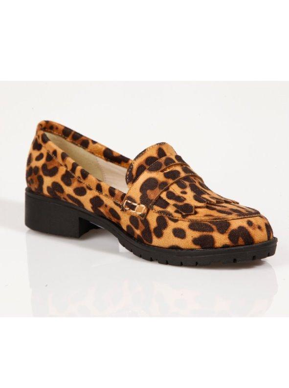 Zapatos planos mocasines mujer con flecos