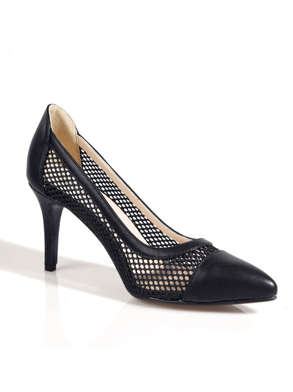 High heel shoes women living with grid