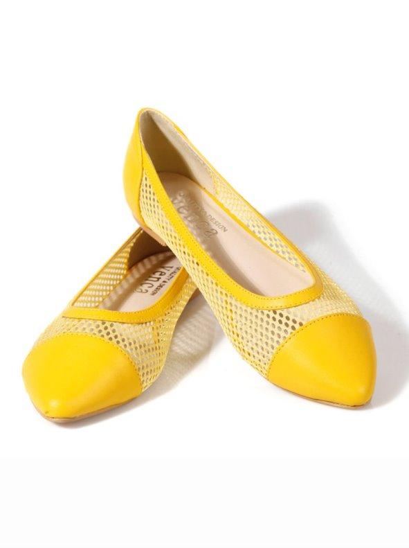 Zapatos bailarinas mujer de rejilla VENCA