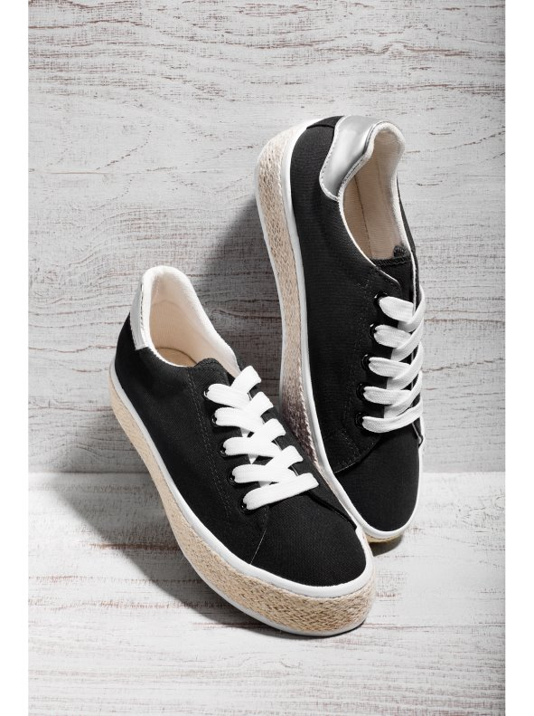 Sports shoes with laces canvas tool snakers finishing esparto VENCA