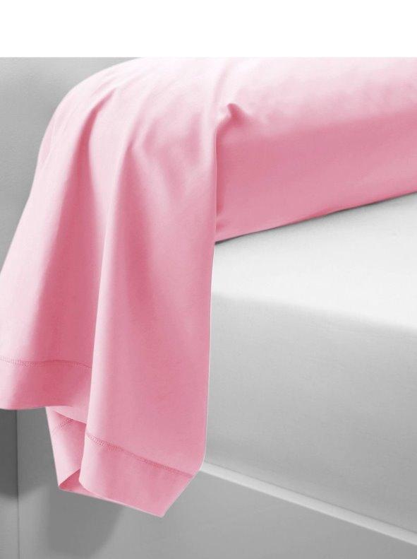 Funda de almohada o cojín rosa de algodón PERCALE 3 SUISSES
