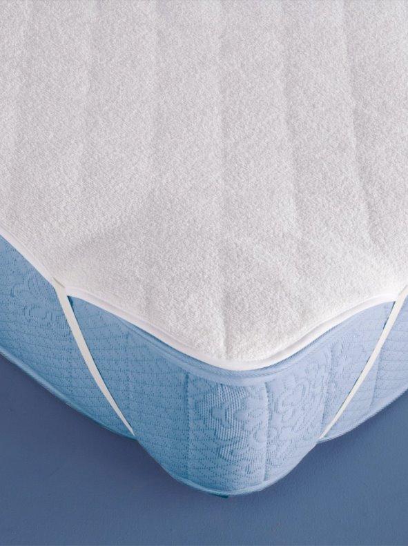 Protector de colchón acolchado transpirable con cintas elásticas
