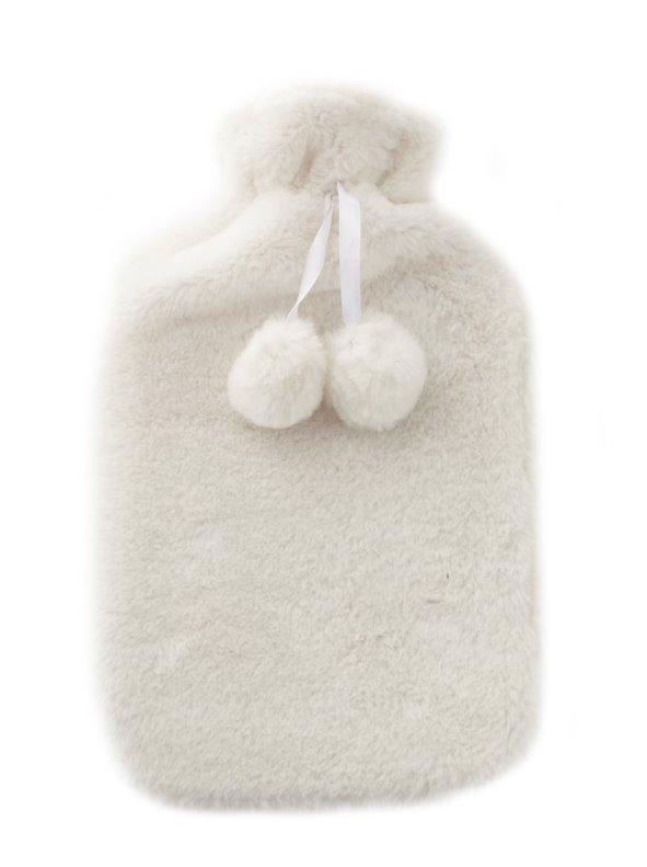 Bolsa de agua caliente con funda de pelo