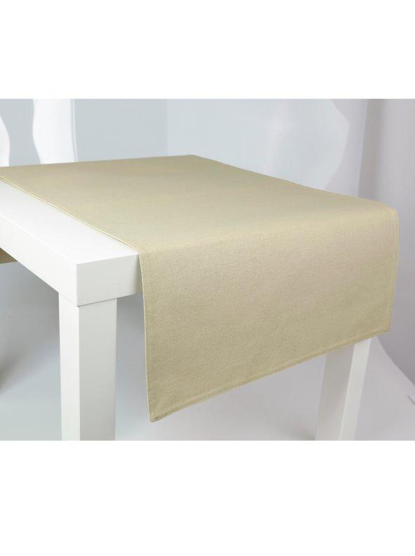Camino de mesa liso en 100% algodón