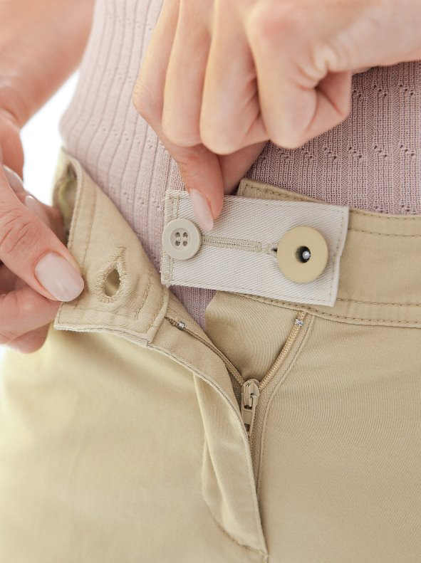 Lote de 2 piezas agranda cintura con botón beige y gris BLANCHEPORTE