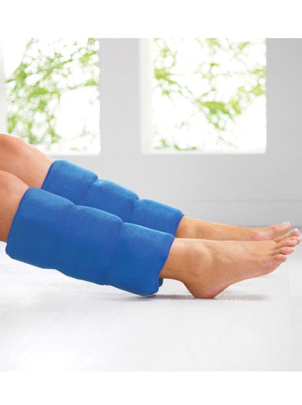 Lote 2 fundas de gel frío para las piernas ajustables