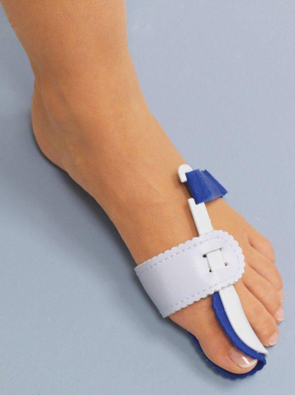 Corrector dedo gordo del pie para la noche con cierre ajustable