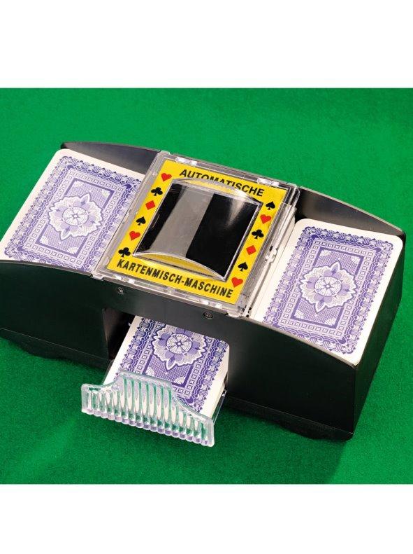 Barajador mezclador de cartas automático con cajón de recuperación