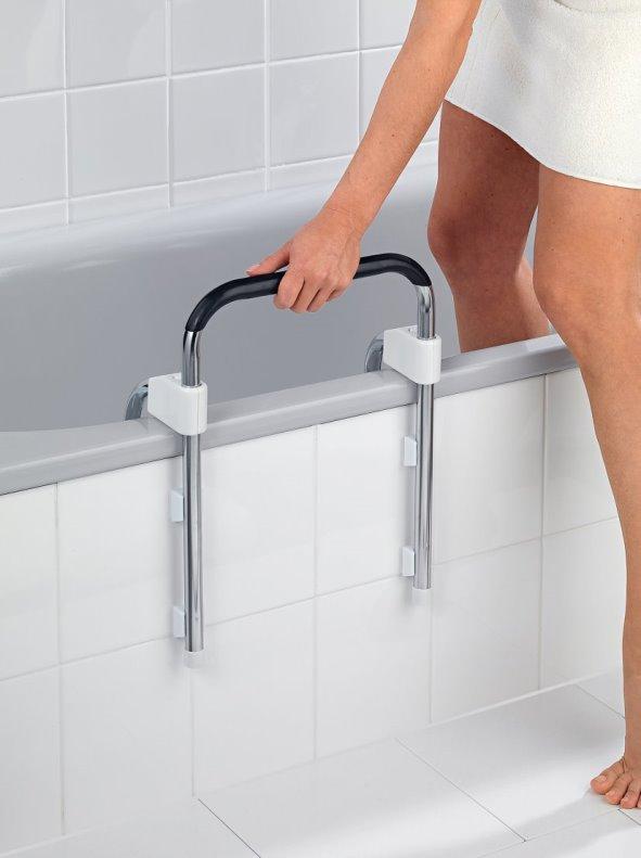 Asidero para bañera adaptable evita caídas y resbalones