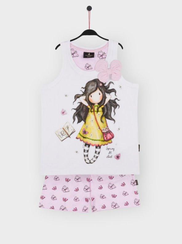 Pijama Tirantes Spring At Last Para Niña blanco 14a