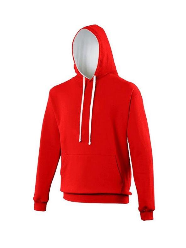 Sudadera con capucha Modelo Varsity Correr/Fitness/Gym/Deporte rojo XS