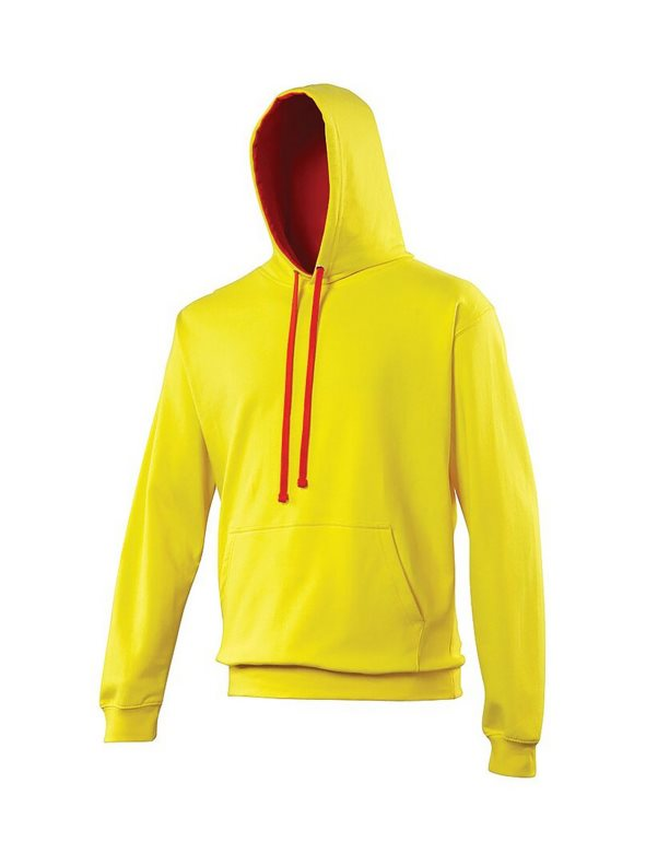 Sudadera con capucha Modelo Varsity Correr/Fitness/Gym/Deporte amarillo L