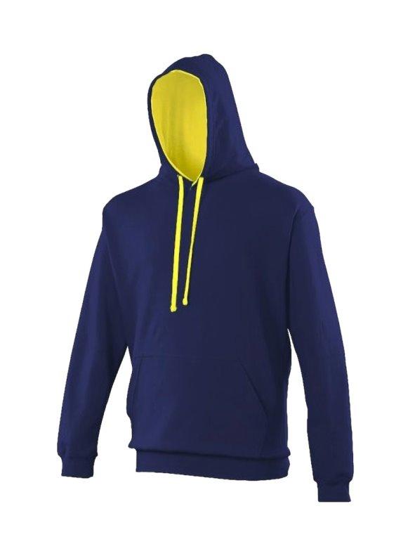 Sudadera con capucha Modelo Varsity Correr/Fitness/Gym/Deporte azul XS