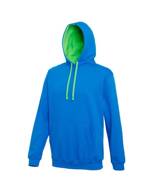 Sudadera con capucha Modelo Varsity Correr/Fitness/Gym/Deporte azul XXL